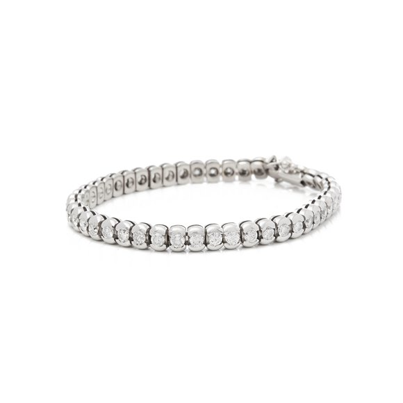18k White Gold 5.50ct Round Brilliant Cut Diamond Bracelet
