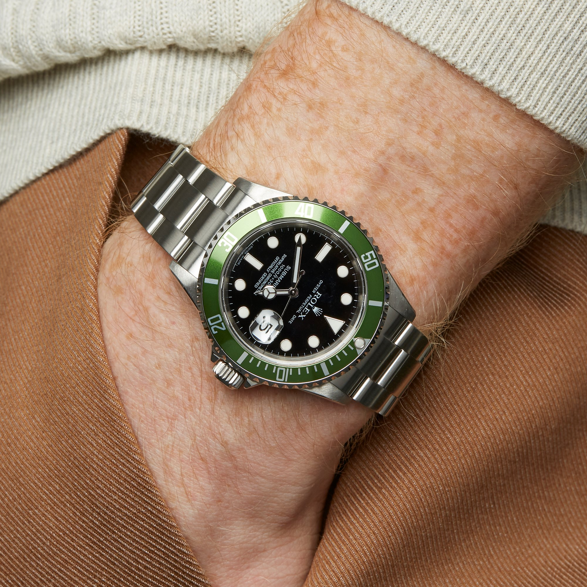 Rolex Submariner Kermit Stainless Steel 16610LV