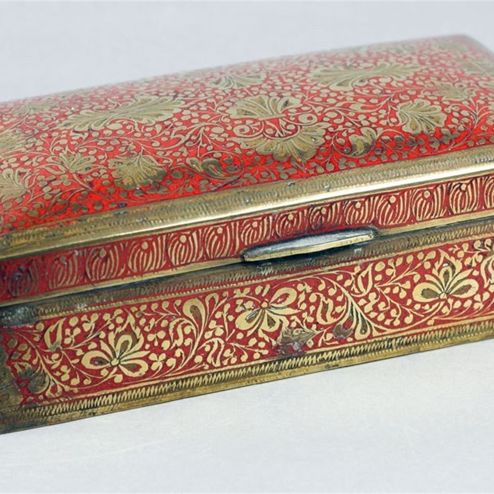 INDIAN ENAMELED BRASS BOX FOR LIBERTY Circa 1900