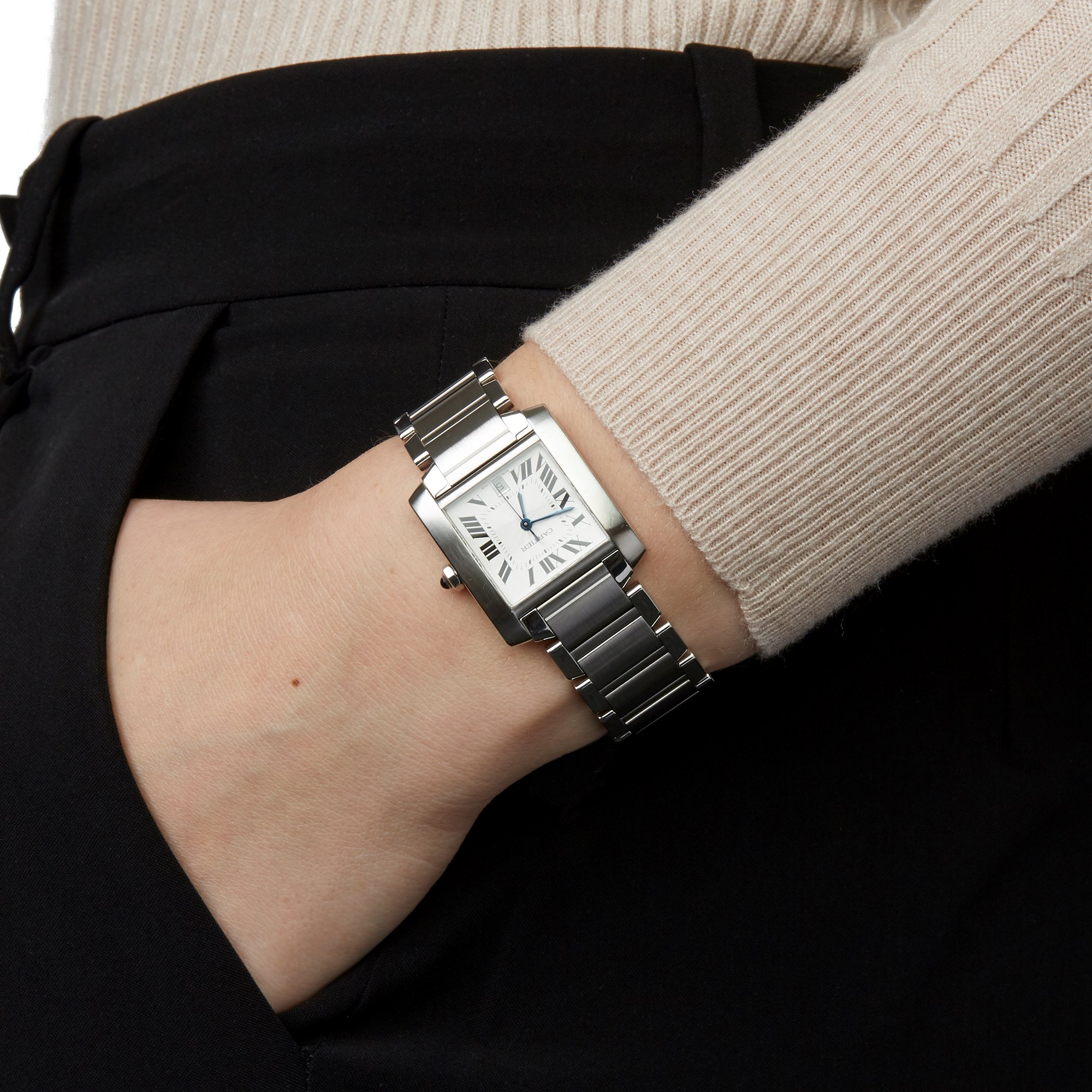 Cartier Tank Francaise Stainless Steel W51002Q3 or 2302