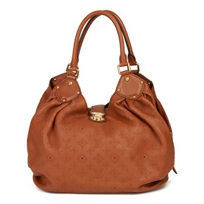 Louis Vuitton Caramel Perforated Monogram Mahina Leather Mahina L