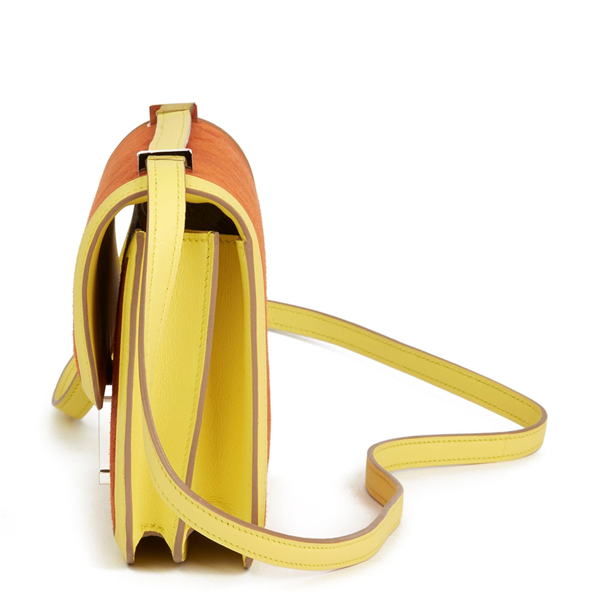 Hermès Paprika Veau Doblis & Soufre Swift Leather Constance Elan