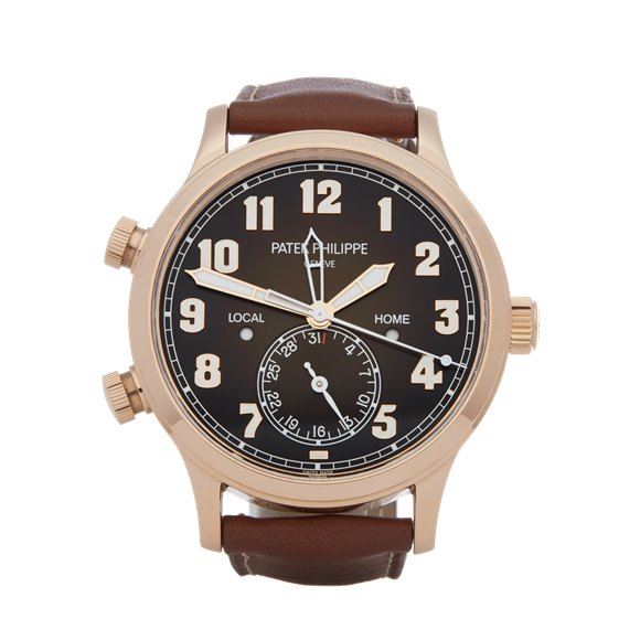 Patek Philippe Calatrava Pilot's Travel Time 18K Rose Gold - 5524R-001