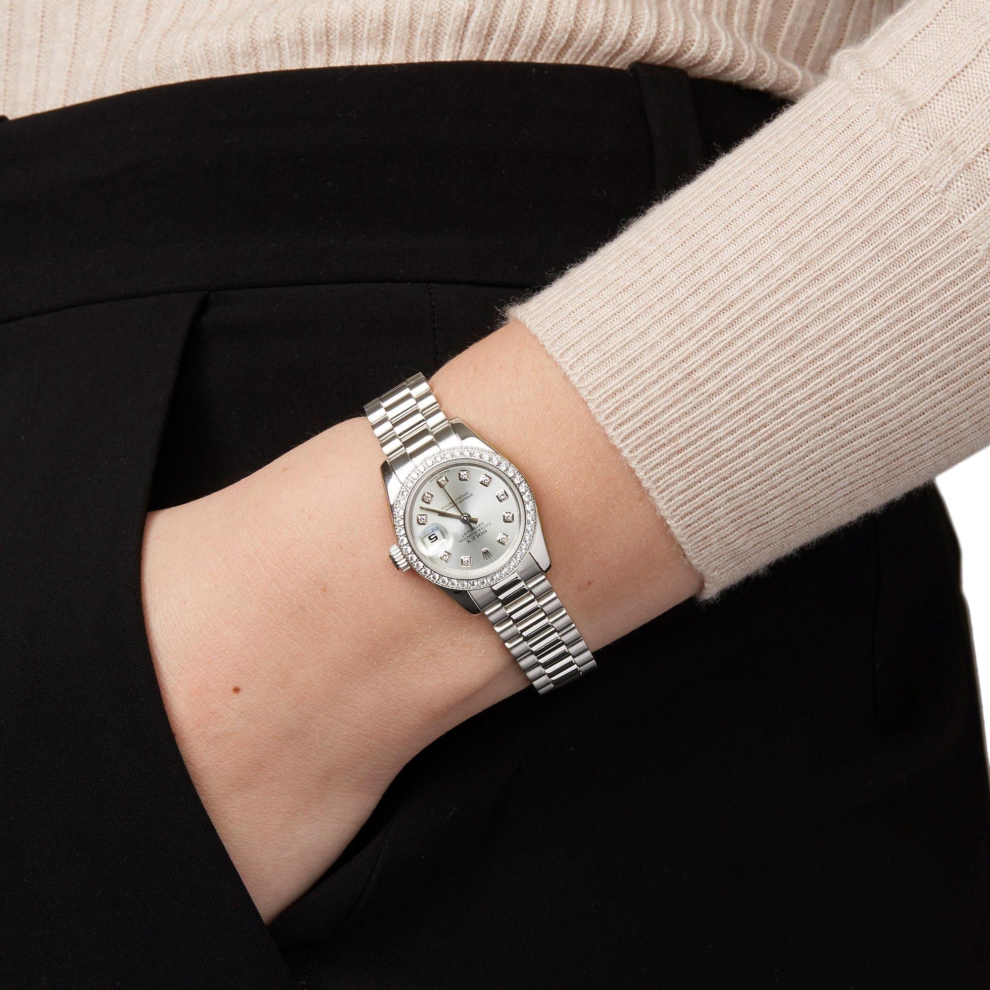 Rolex Datejust 26 Diamond Platinum 179136