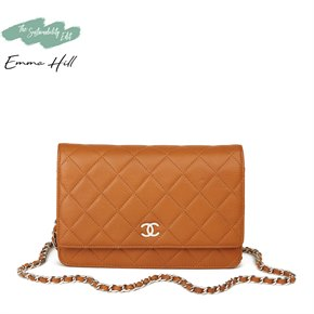 Chanel Honey Beige Quilted Caviar Leather Wallet-on-Chain WOC