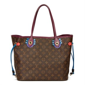 Louis Vuitton Brown Monogram Coated Canvas Totem Neverfull MM