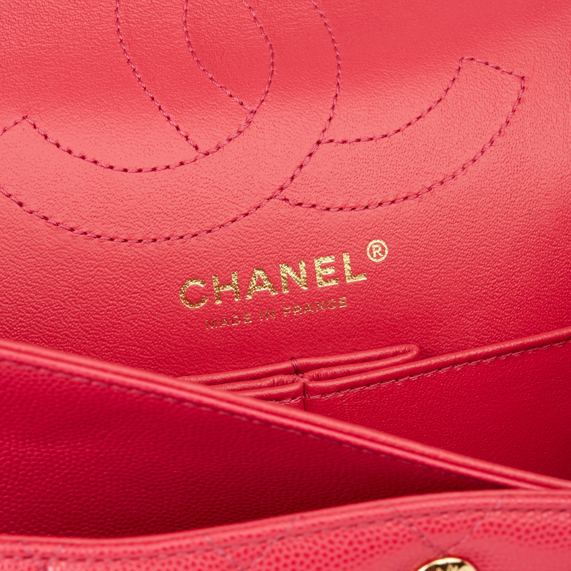 Chanel Magenta Chevron Quilted Caviar Leather 2.55 Reissue Double Flap Bag