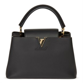 Louis Vuitton Black Taurillon Calfskin Leather Capucine BB