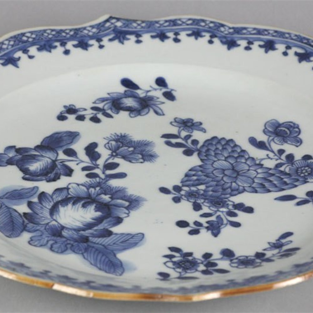 KANGXI PAINTED BLUE & WHITE PLATE Early 18th Century … believed to date to the late Kangxi reign