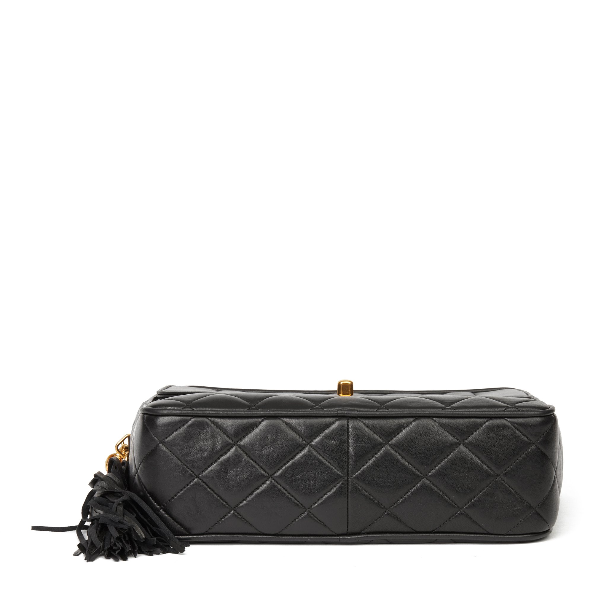 Chanel Black Quilted Lambskin Vintage Classic Camera Bag