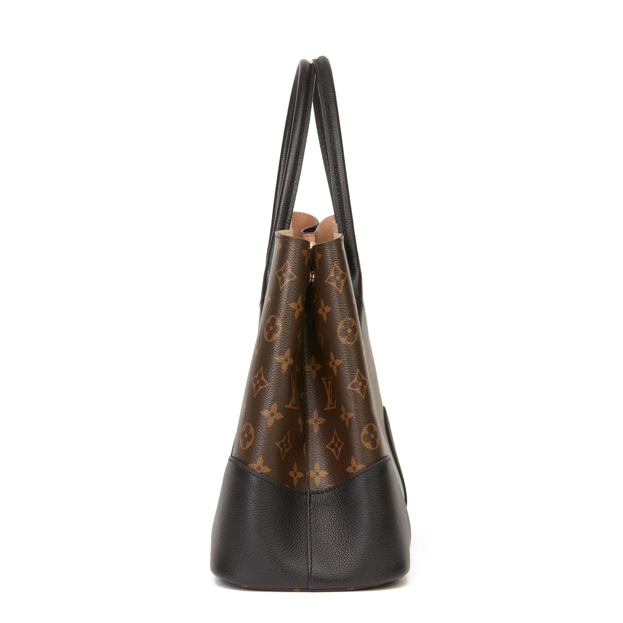 Louis Vuitton Brown Monogram Coated Canvas & Black Calfskin Leather Flandrin