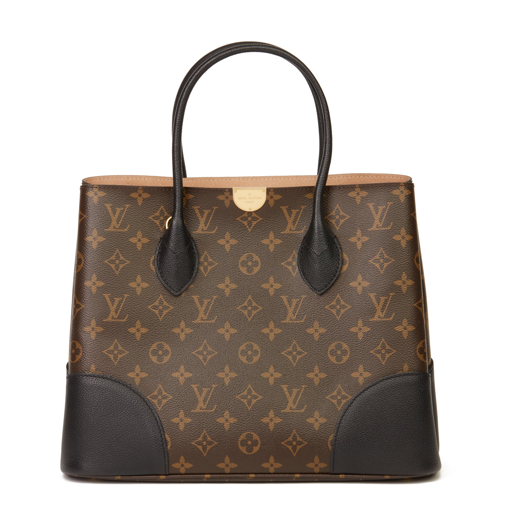 Louis Vuitton Brown Monogram Coated Canvas & Black Calfskin Leather Flandrin