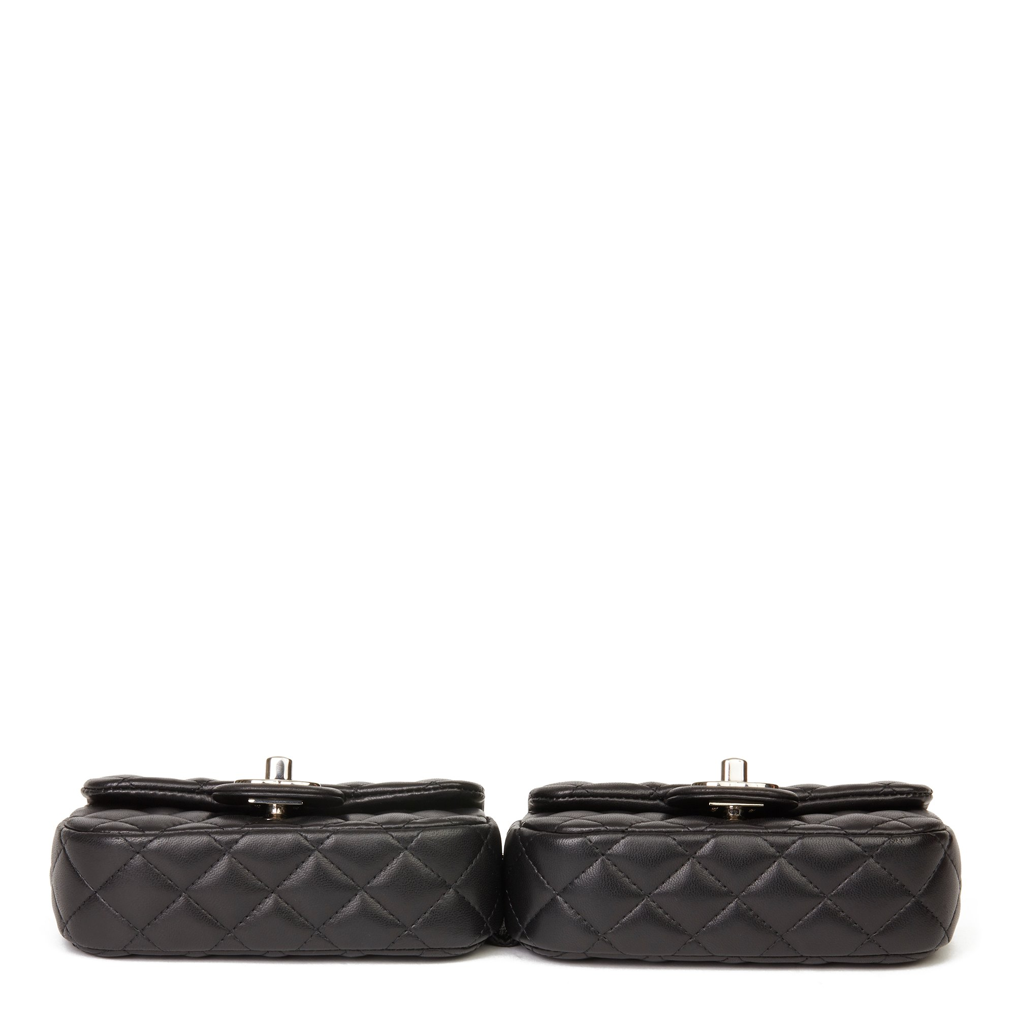 Chanel Black Quilted Lambskin Double Mini Flap Bag