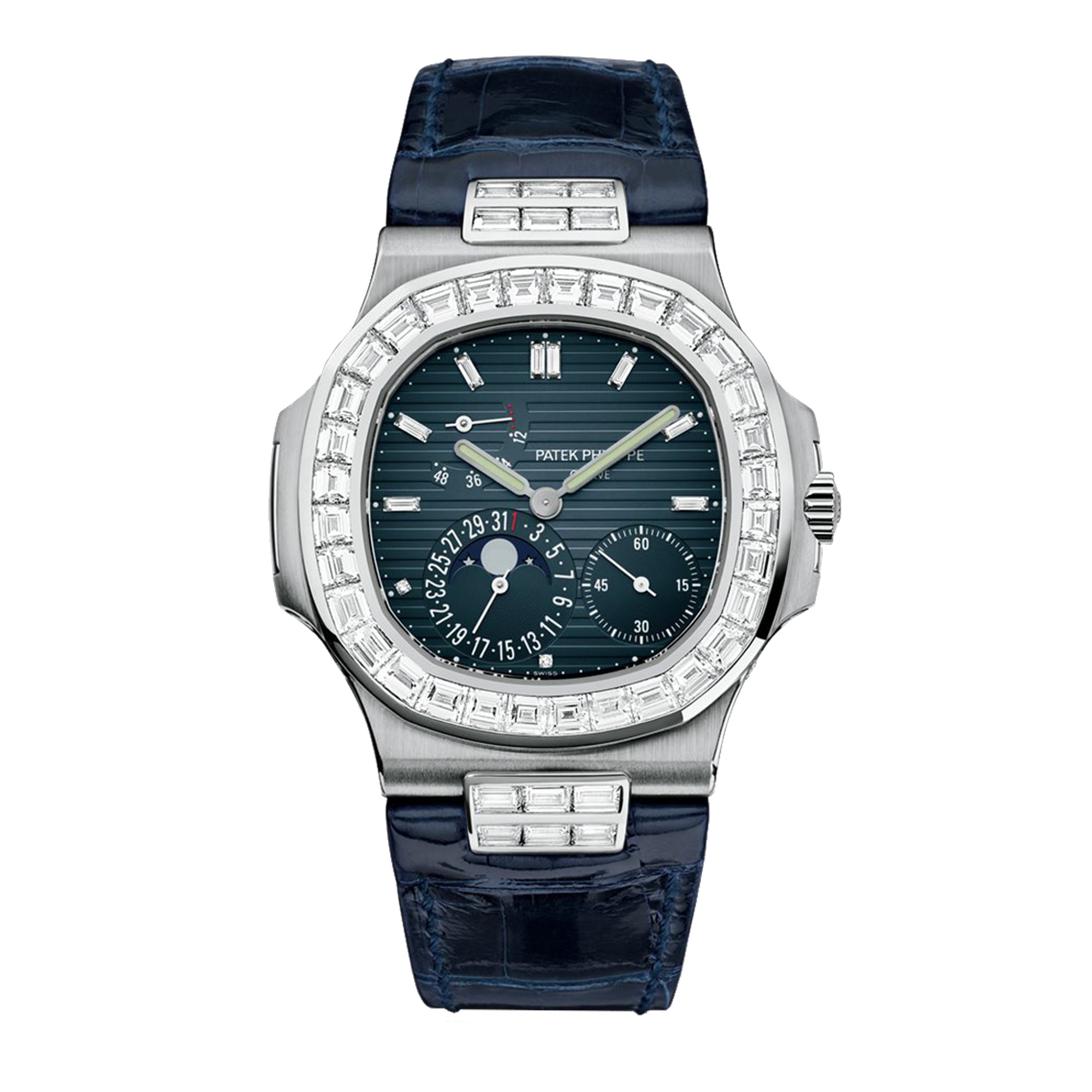 Patek Philippe Nautilus Date, Moonphase, Diamond 40mm 5724G