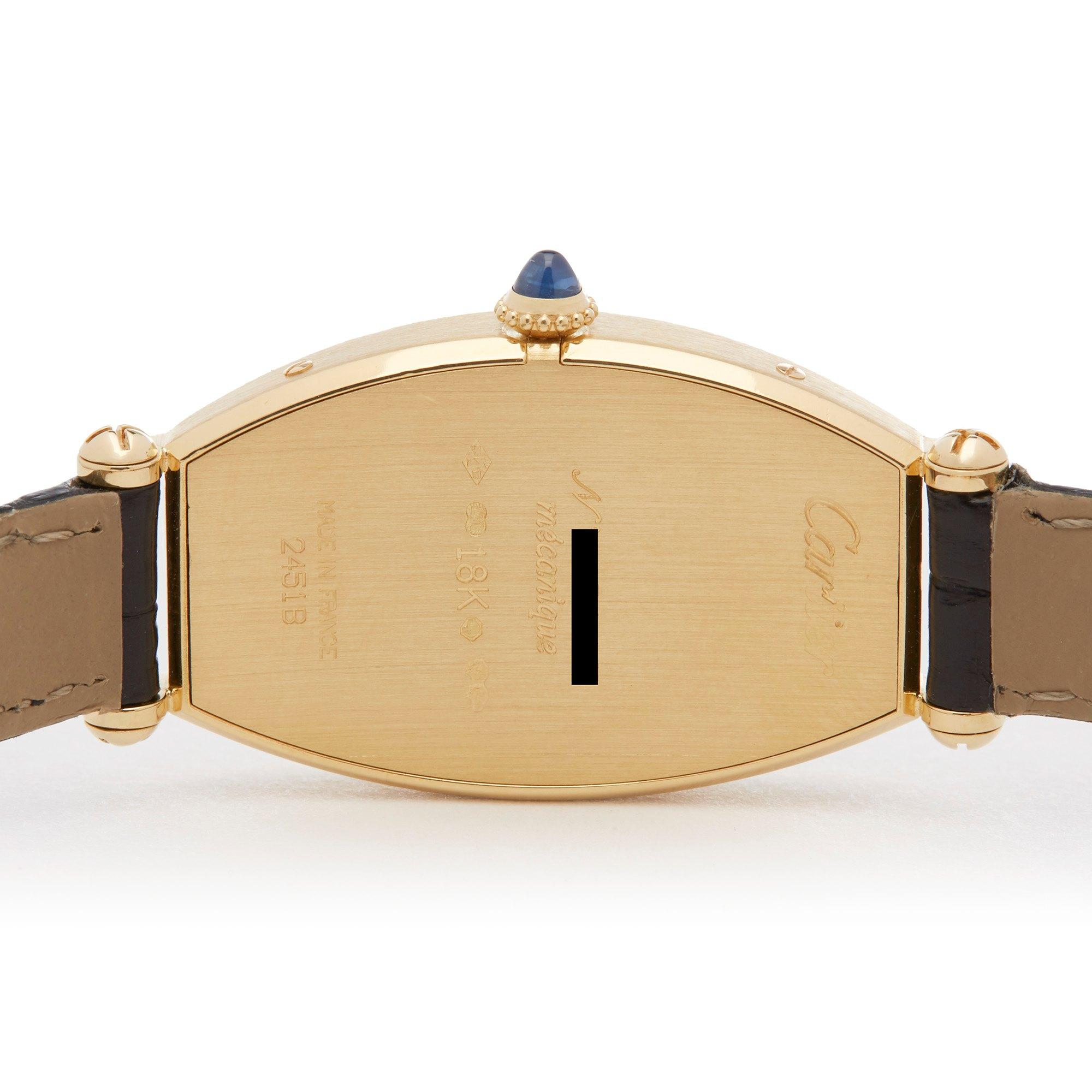 Cartier Tonneau 18k Yellow Gold 89590043 or 0078
