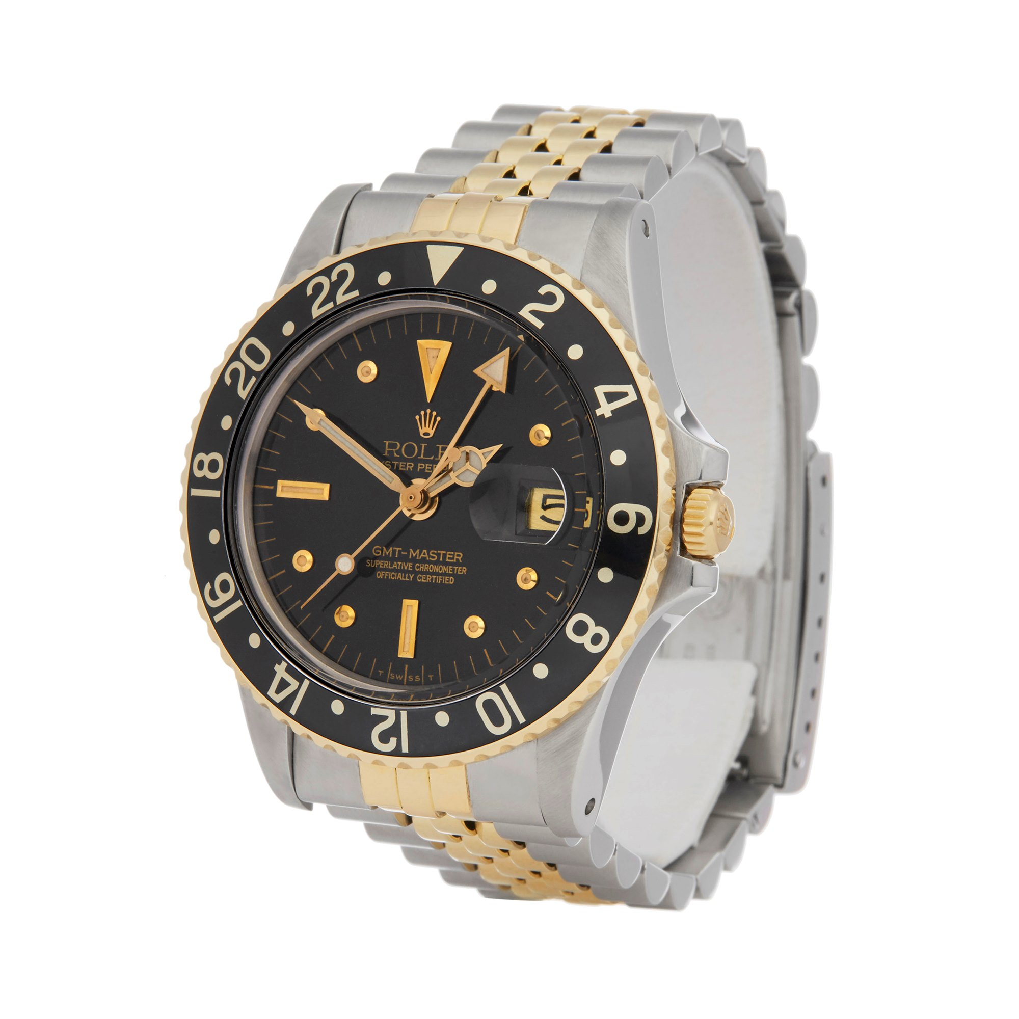Rolex GMT-Master Nipple Dial Stainless Steel & Yellow Gold 16753