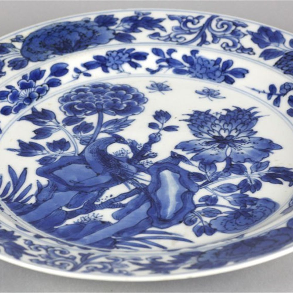 KANGXI PLATE PAINTED WITH BIRDS Kangxi reign 1662-1722