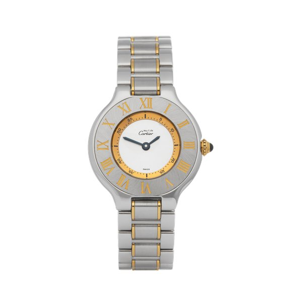 Cartier Must De 21 Stainless Steel & Yellow Gold - W10073R6 or 1340