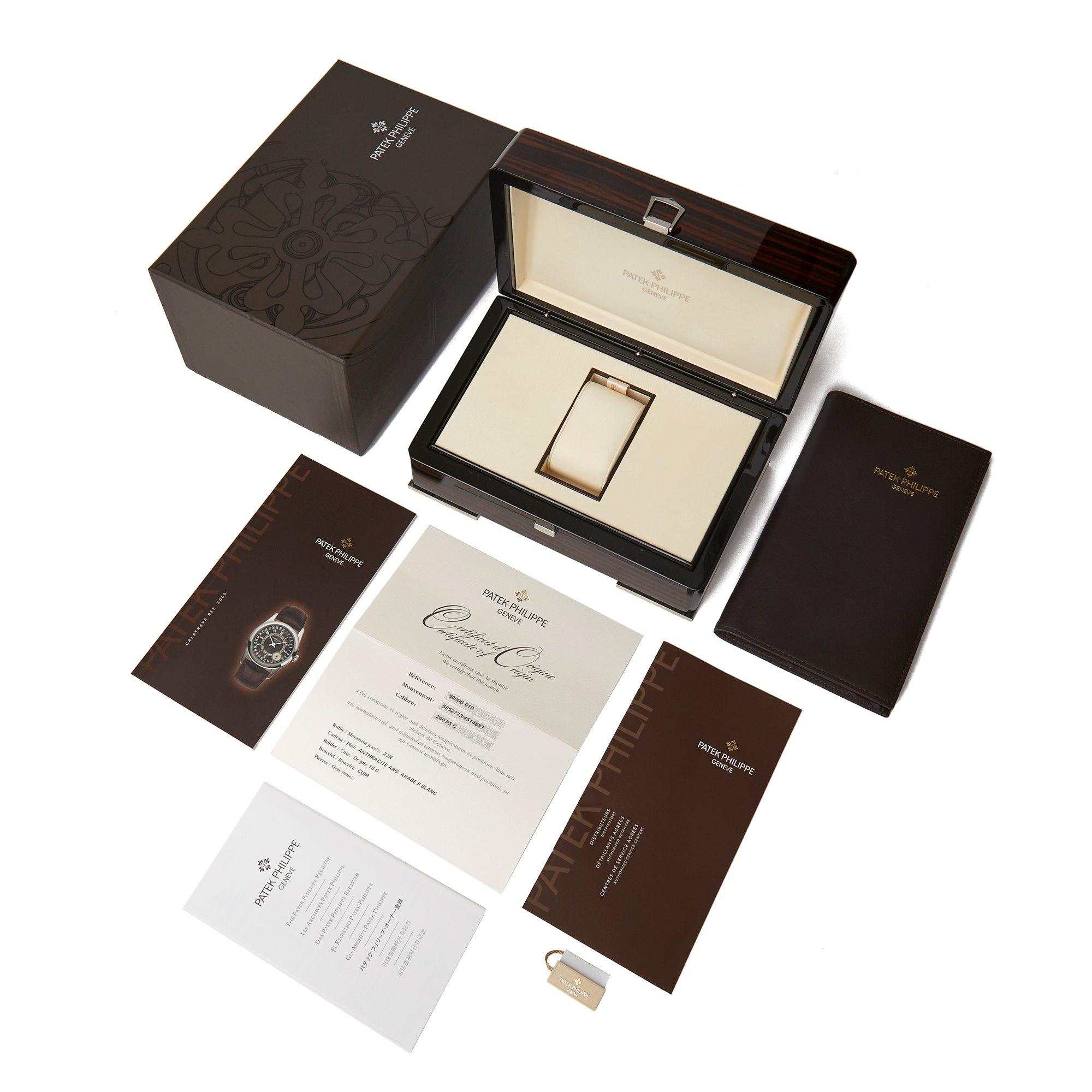 Patek Philippe Calatrava 18K White Gold 6000G