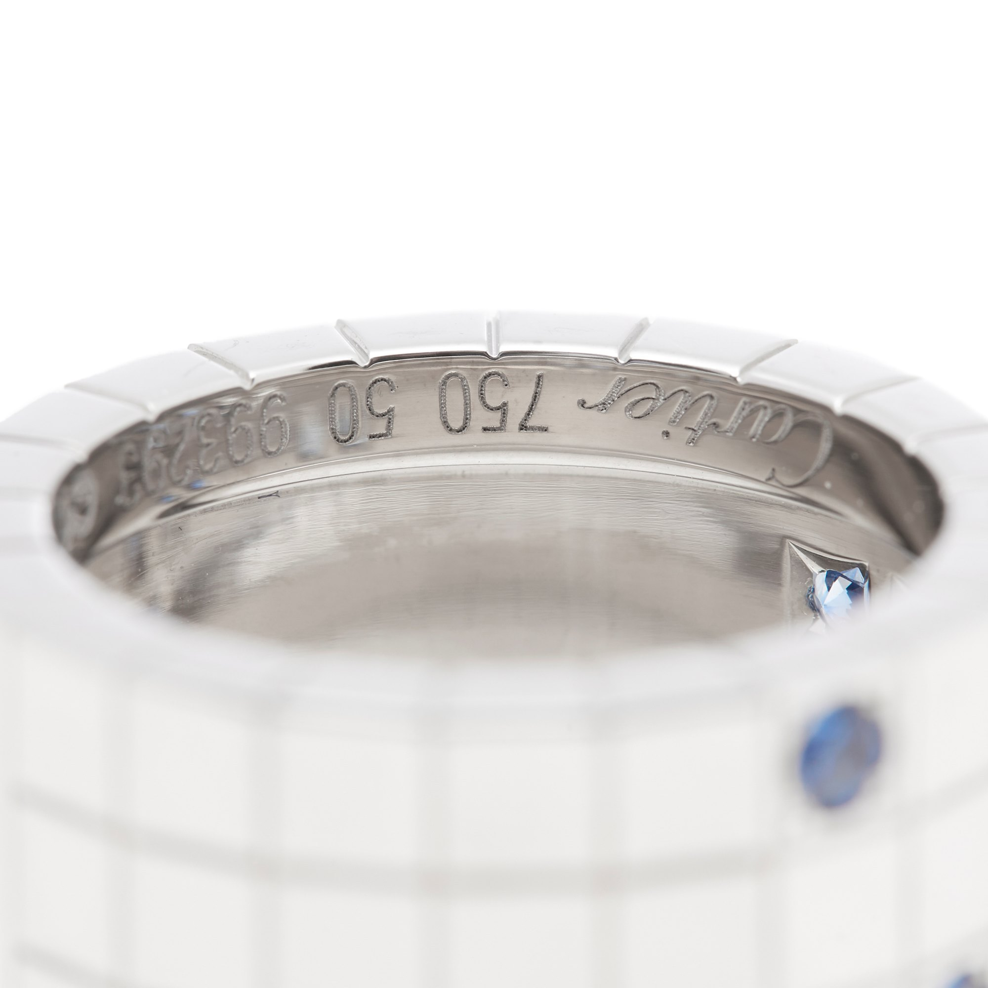 Cartier 18k White Gold Diamond & Sapphire Lanieres Ring