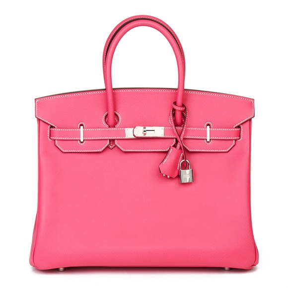 Hermès Rose Tyrien & Rubis Epsom Leather Candy Collection Birkin 35cm