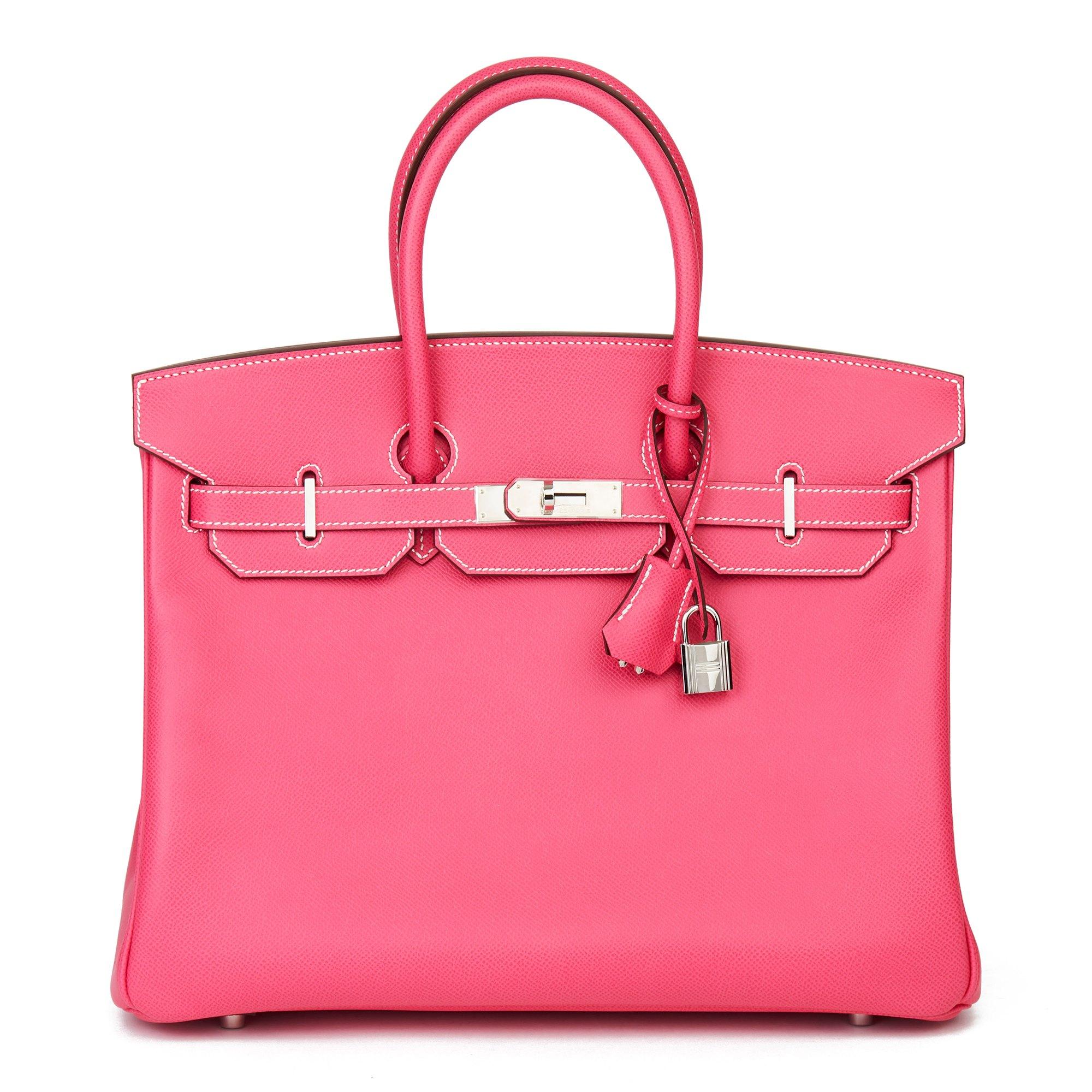Hermès Rose Tyrien & Rubis Epsom Leather Candy Collection Birkin 35cm