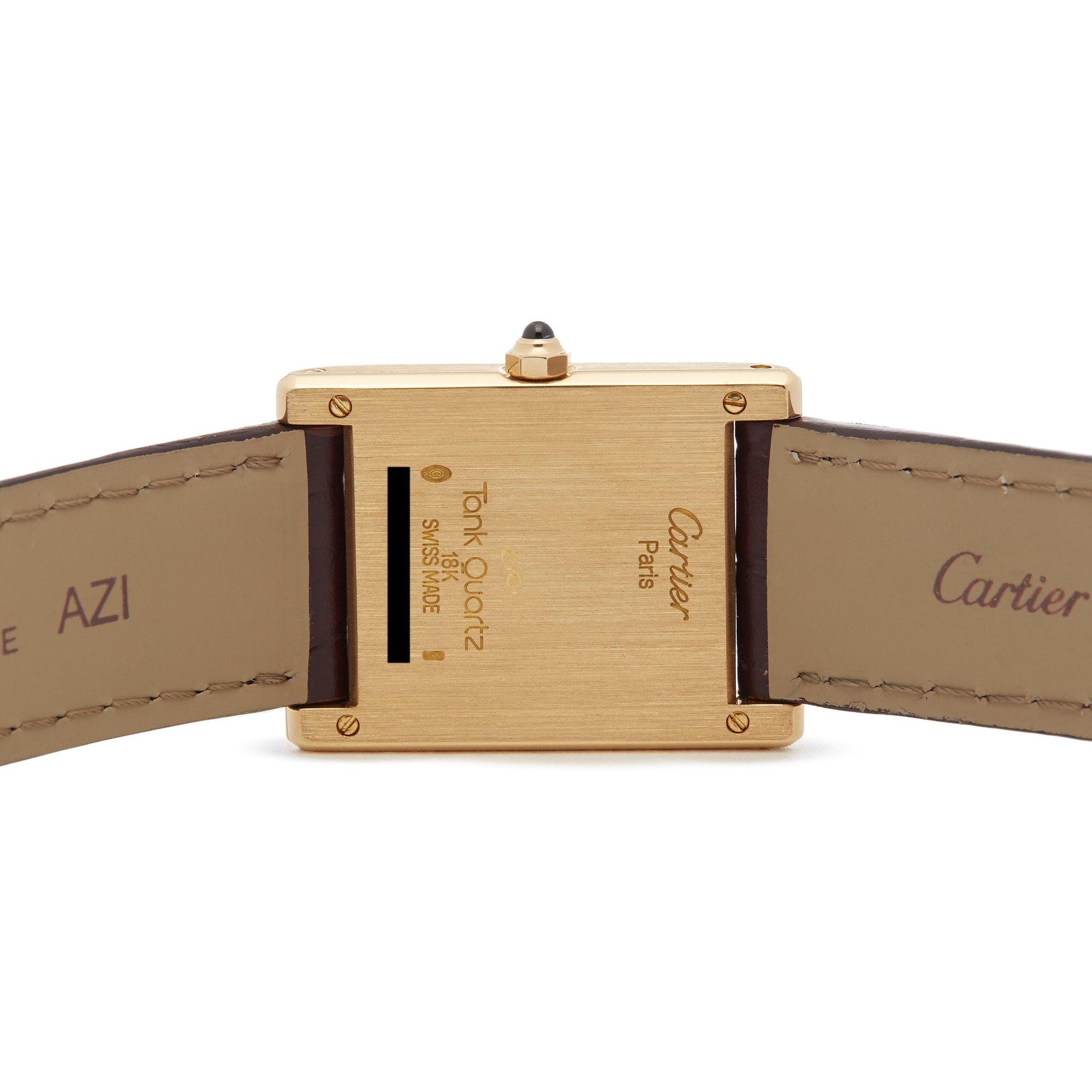 Cartier Tank Paris 18k Yellow Gold