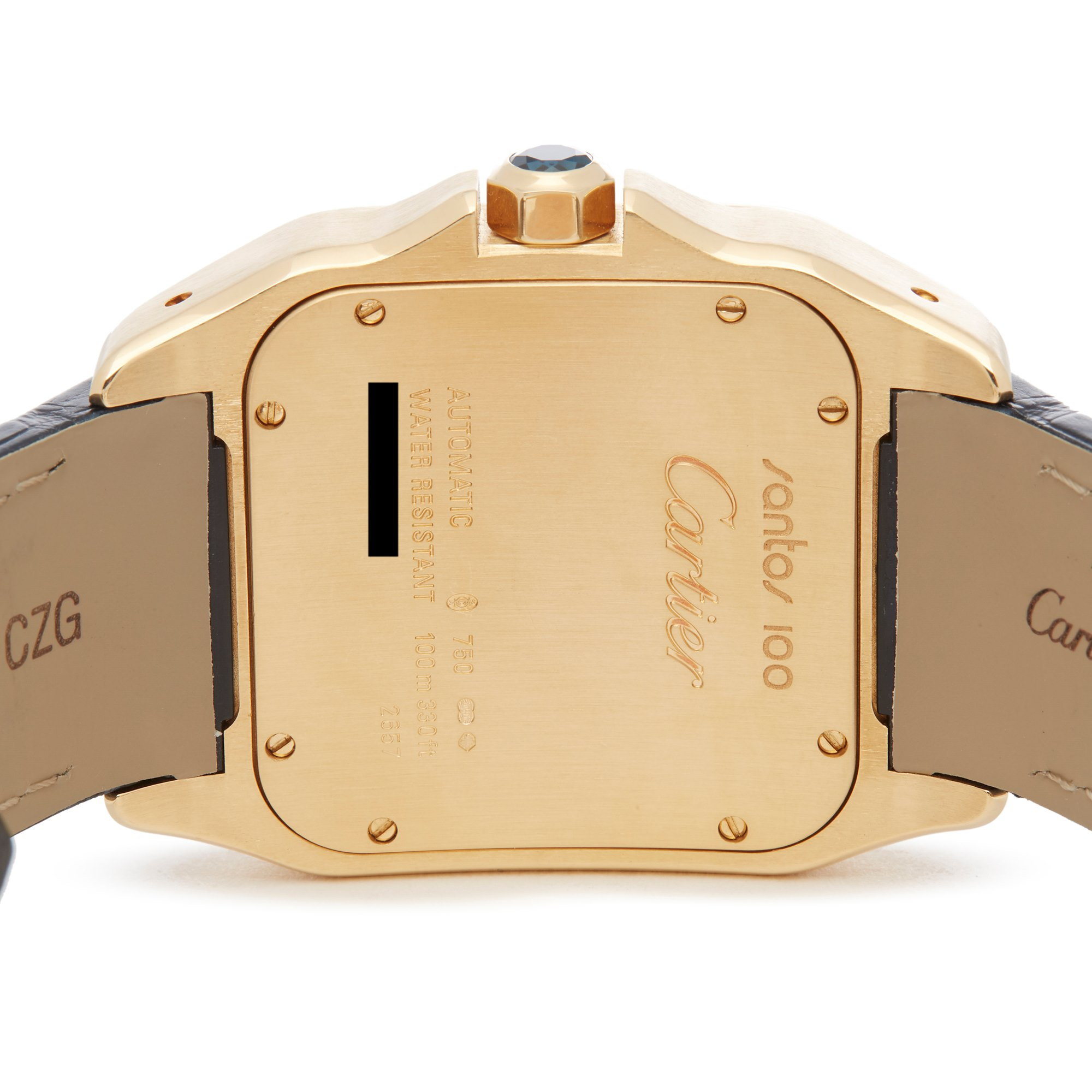Cartier Santos 100 18K Yellow Gold W20071Y1 or 2657