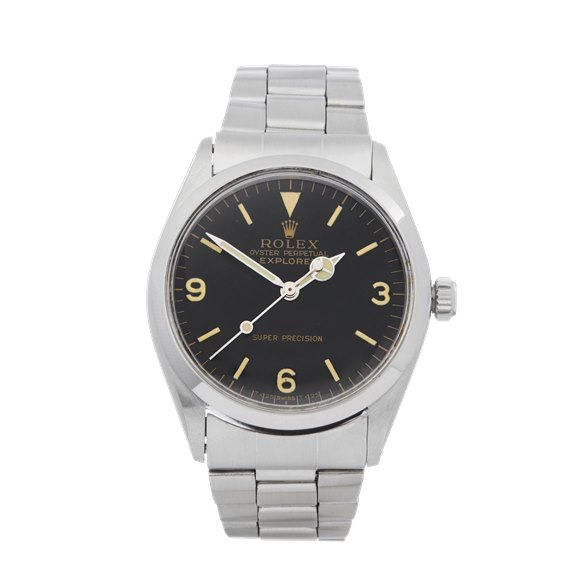 Rolex Explorer I Double Stamped T25 Stainless Steel - 5500