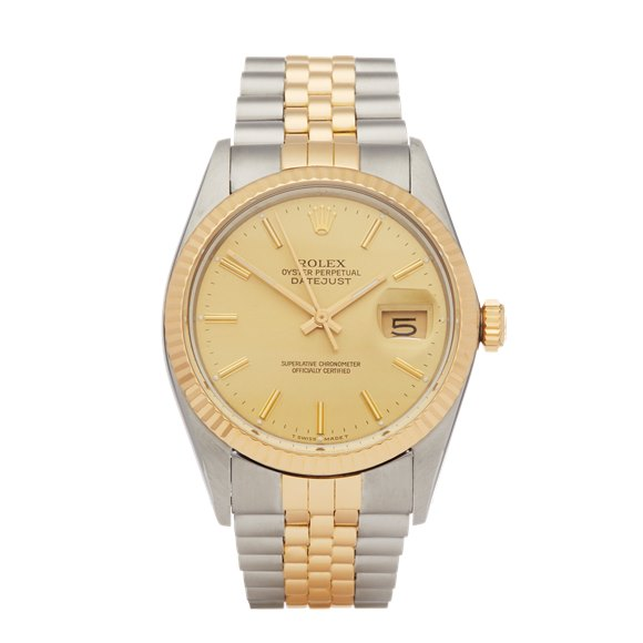 Rolex DateJust Stainless Steel & Yellow Gold - 16013