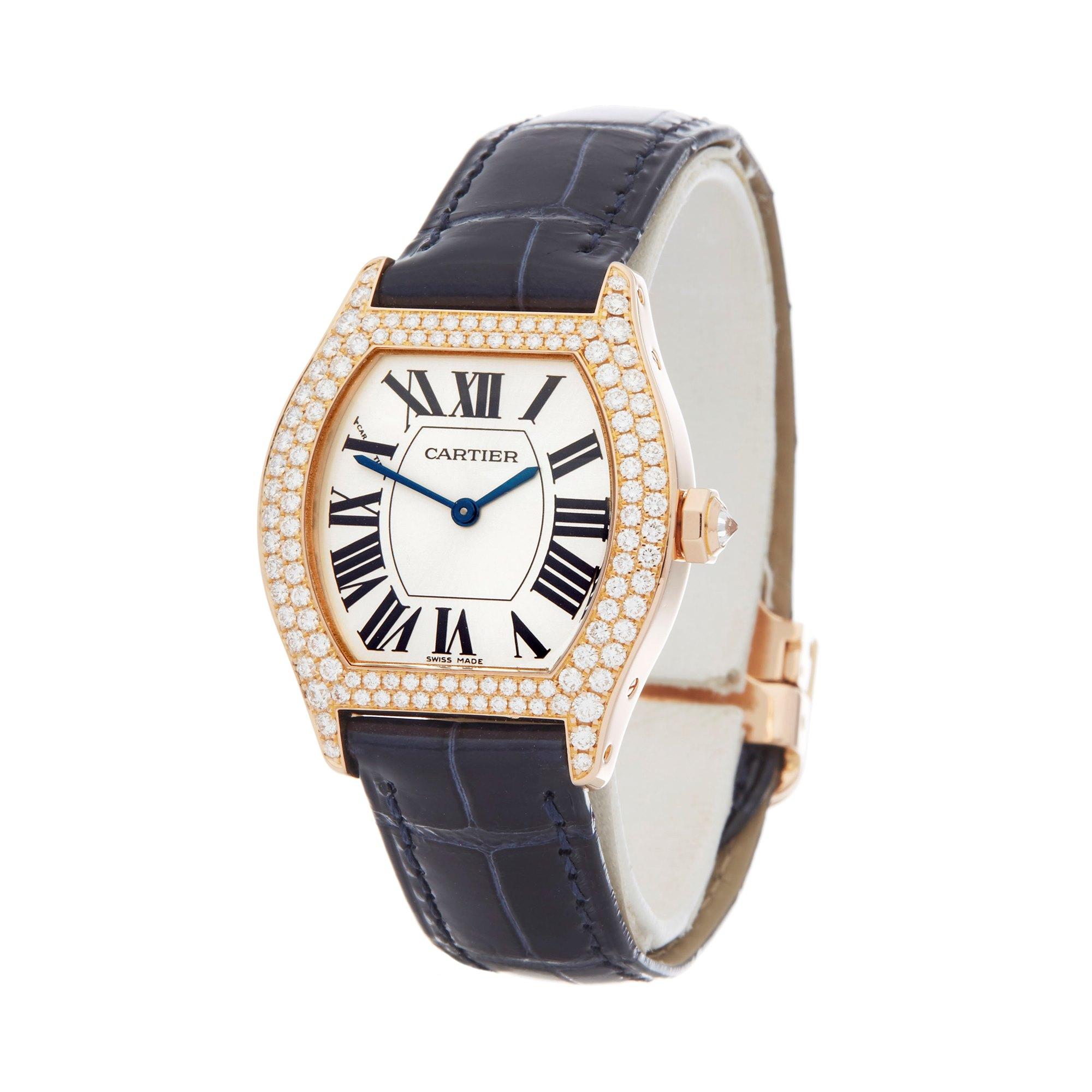 Cartier Tortue Diamond 18K Geel Goud WA505031