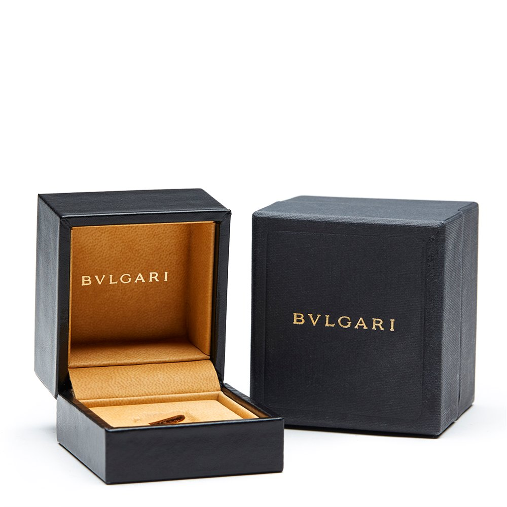 Bulgari 18k Yellow Gold 0.50ct Diamond Monlogo Ring