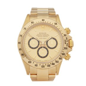 Rolex Daytona Zenith Inverted 6 Floating Cosmograph Rare 200 Bezel 18K Yellow Gold - 16528