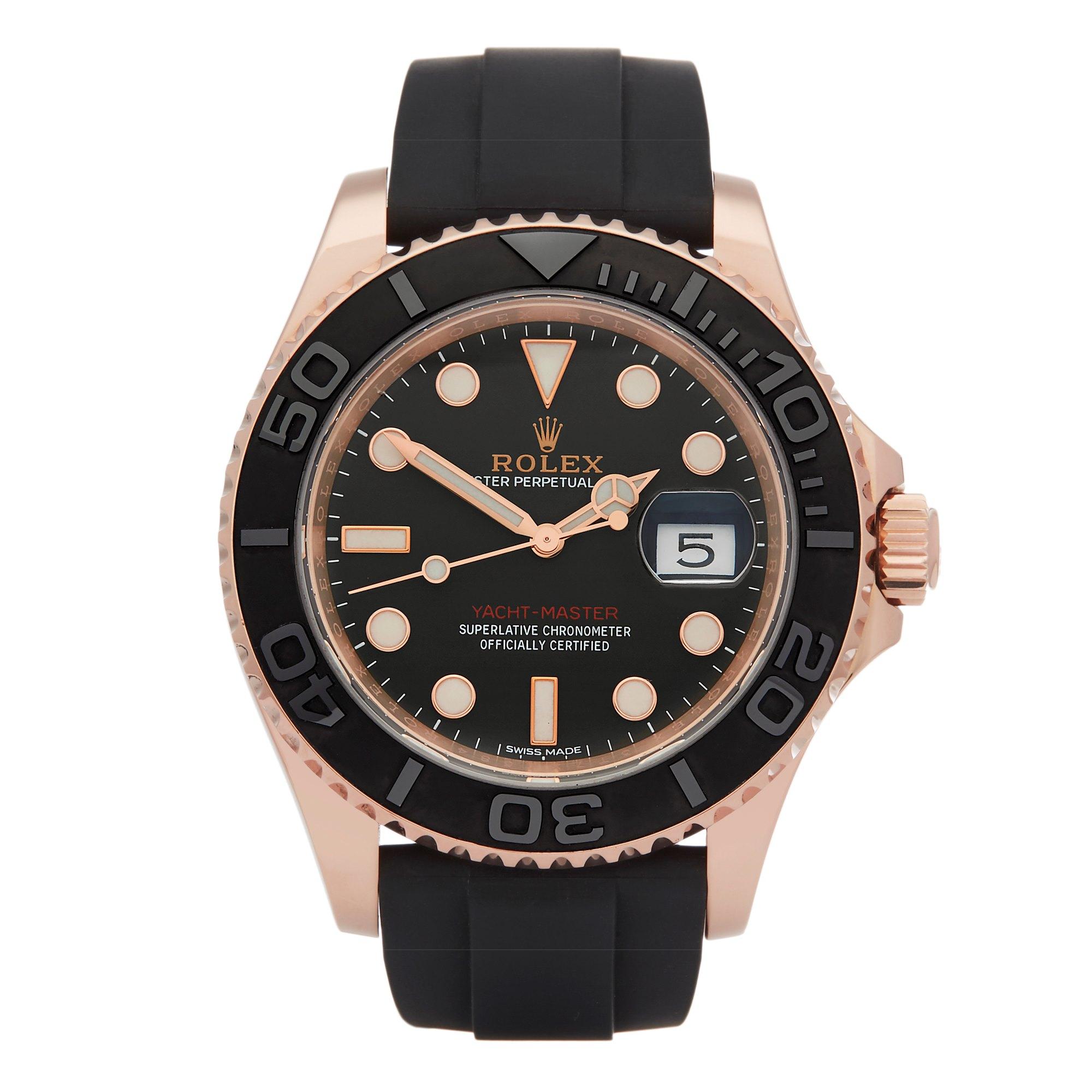 Rolex Yacht-Master 18k Rose Gold 116655
