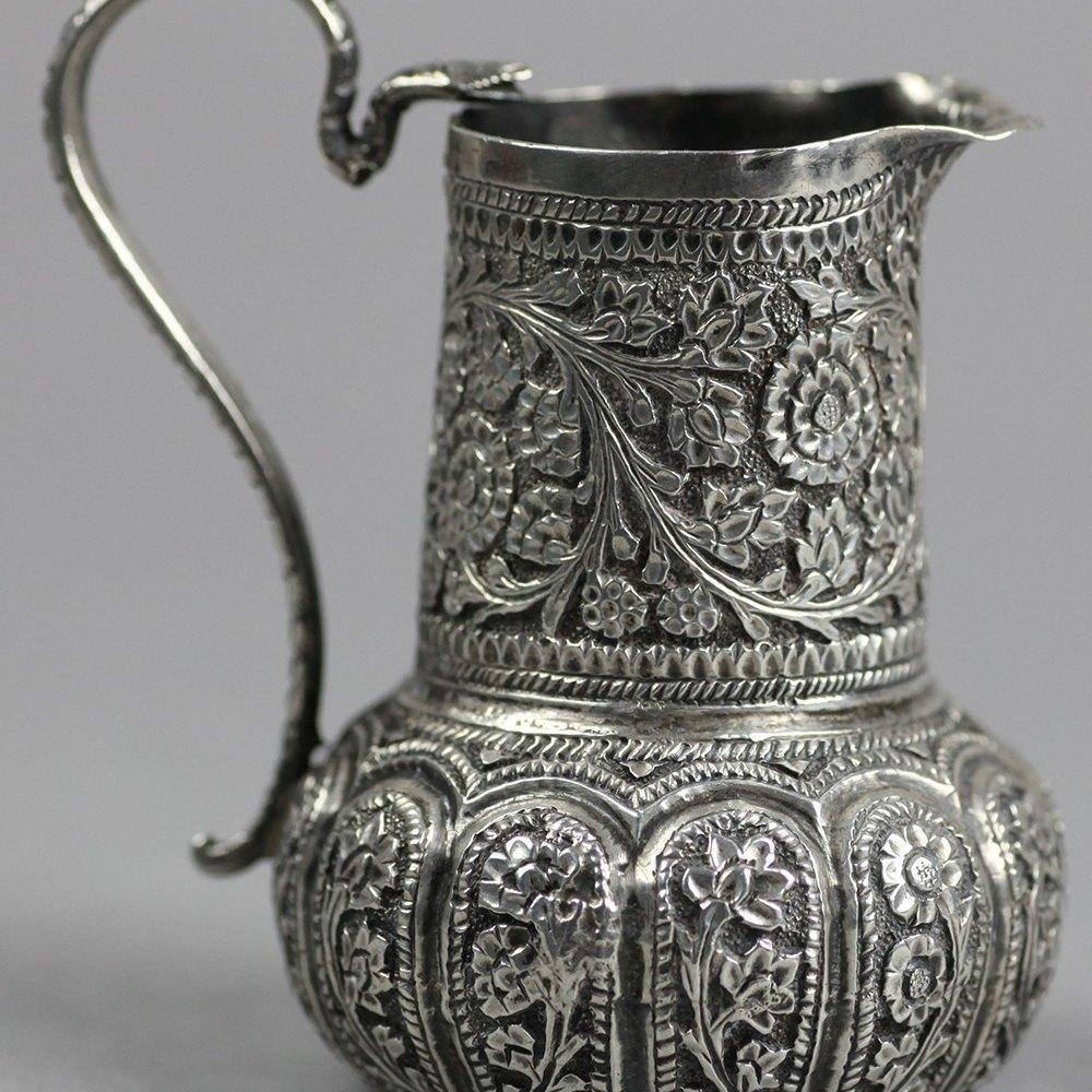 INDIAN SILVER CREAM JUG 19th Century