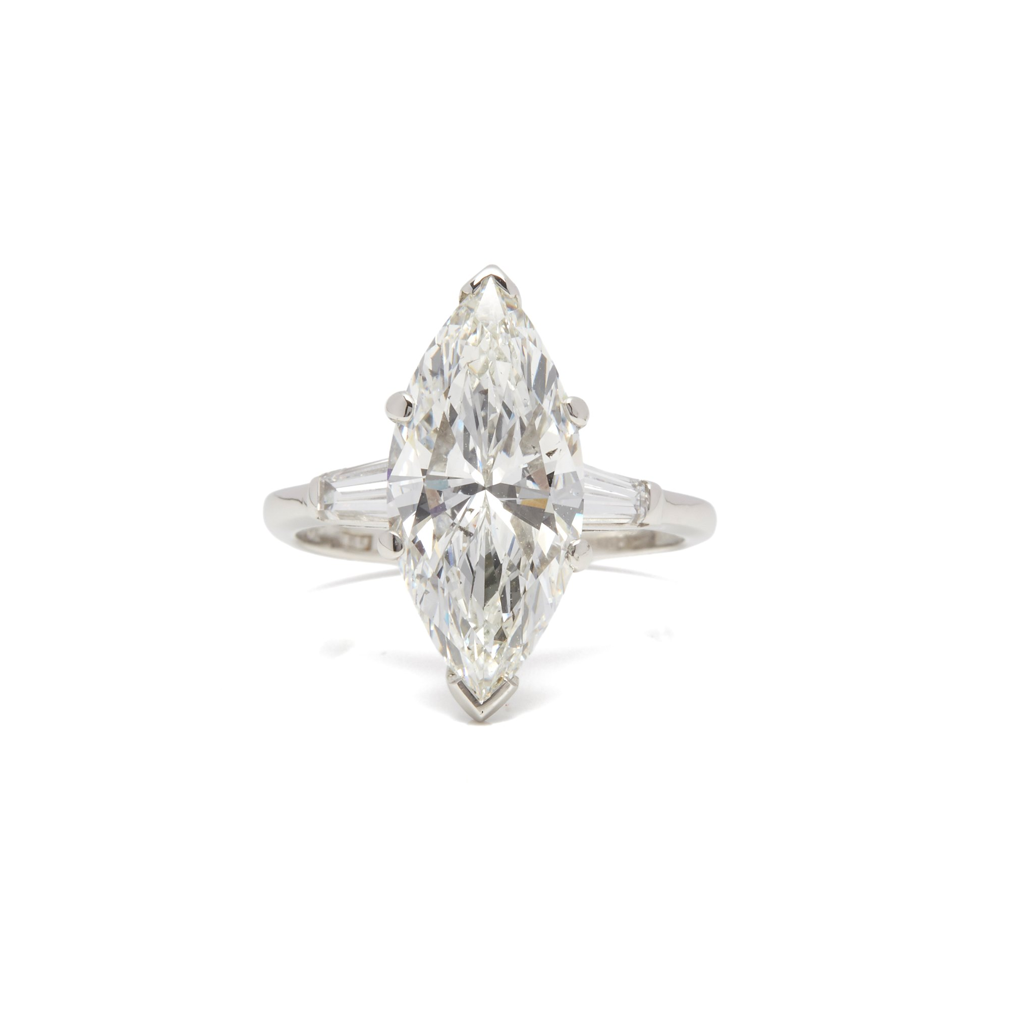 Diamanten Platinum 4.18ct Marquise Diamond Engagement Ring