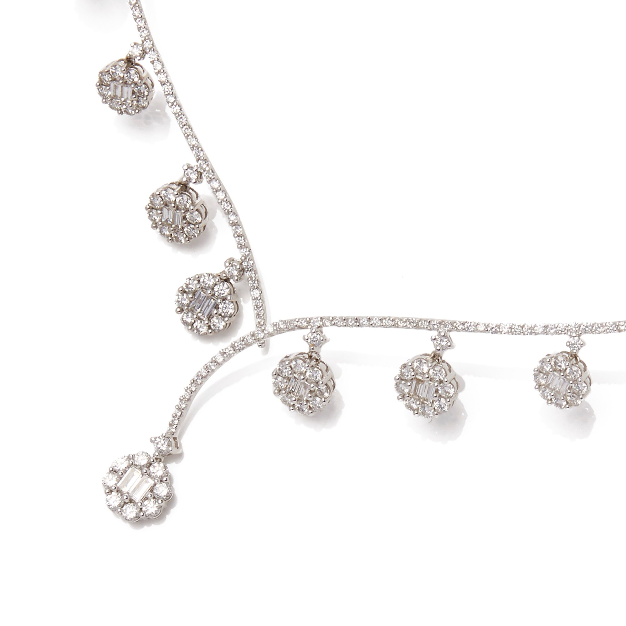 Diamond 18k White Gold Diamond Drop Necklace