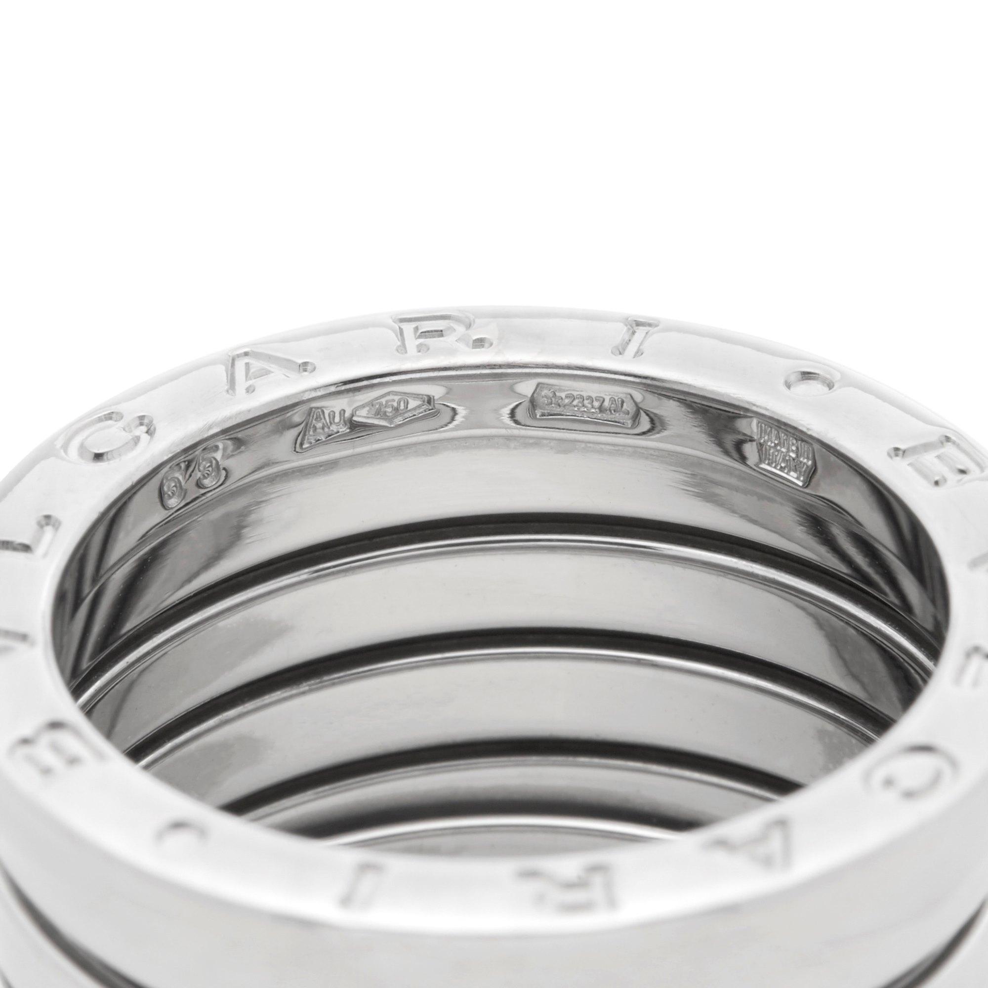 Bulgari 18k White Gold 5 Band B.Zero 1 Ring