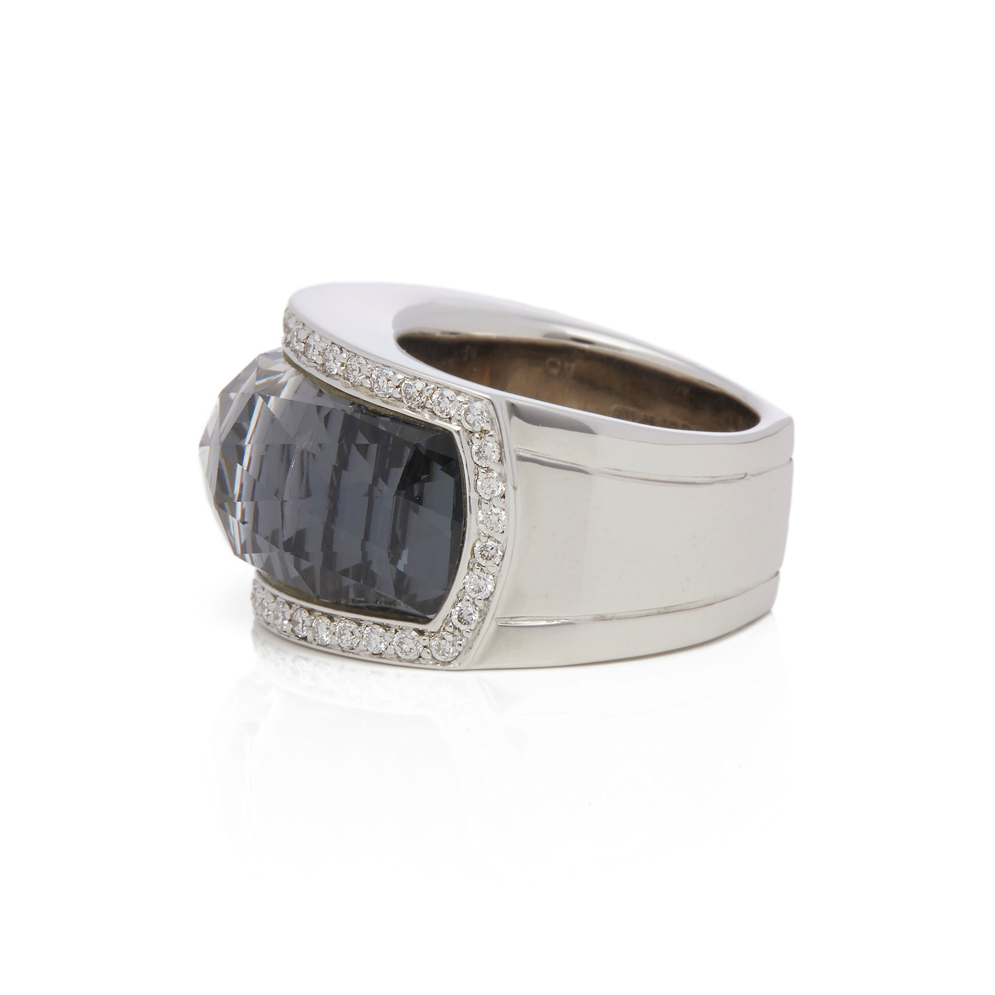 Stephen Webster 18k White Gold Hematite & Diamond Jelly Bean Ring
