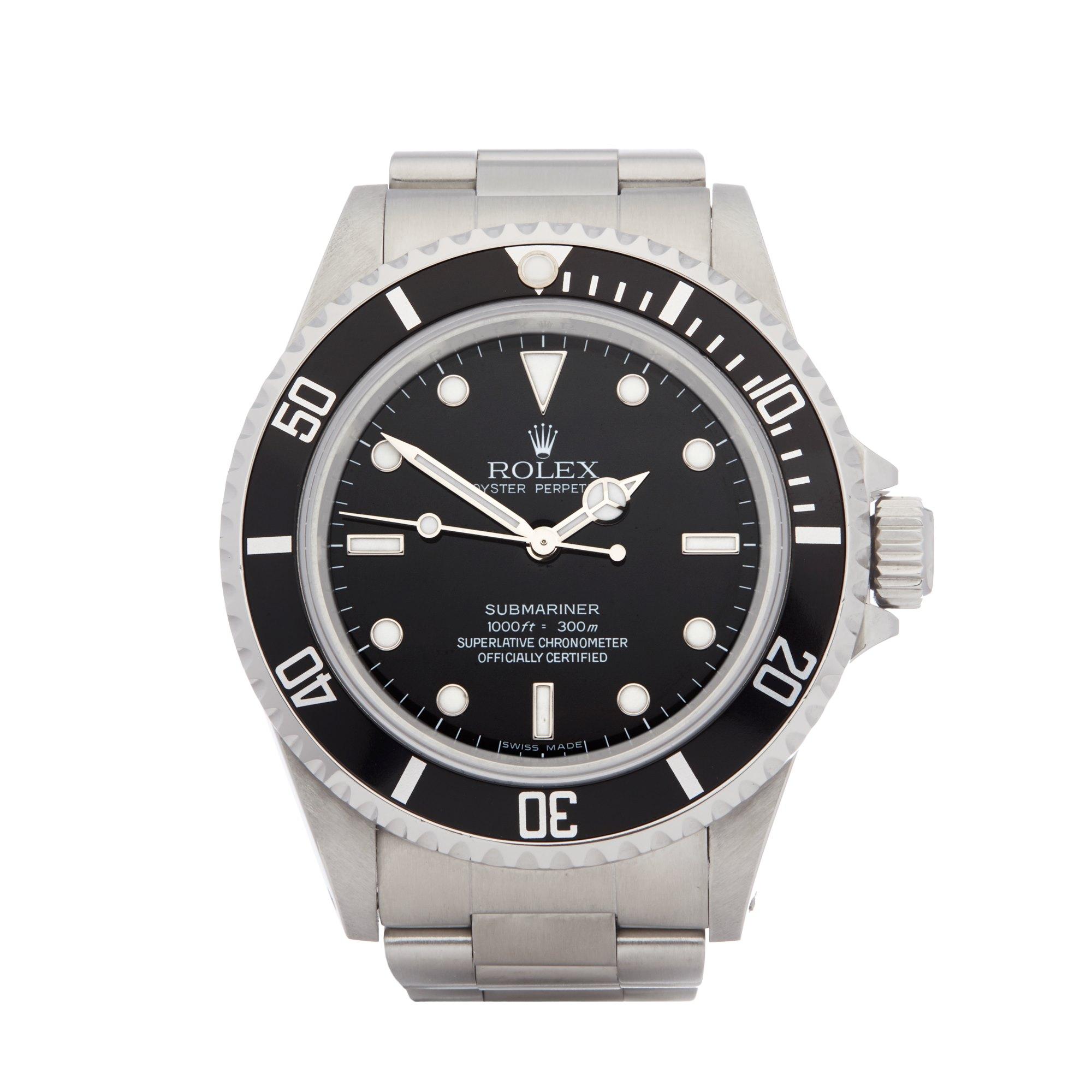 Rolex Submariner Non Date Roestvrij Staal 14060M