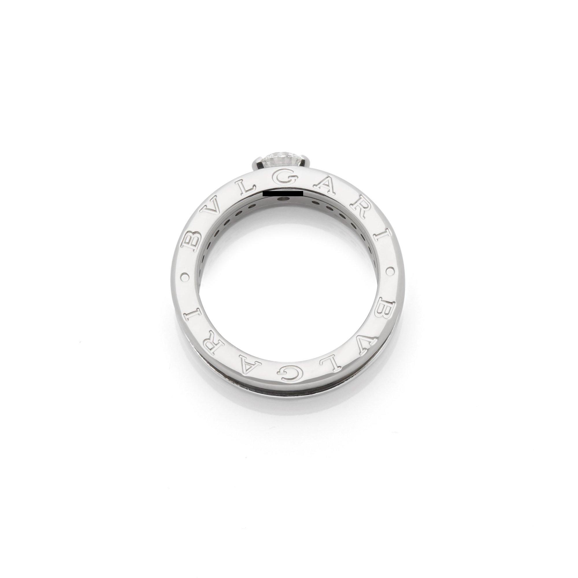 Bulgari 18k White Gold Diamond B.Zero 1 Ring