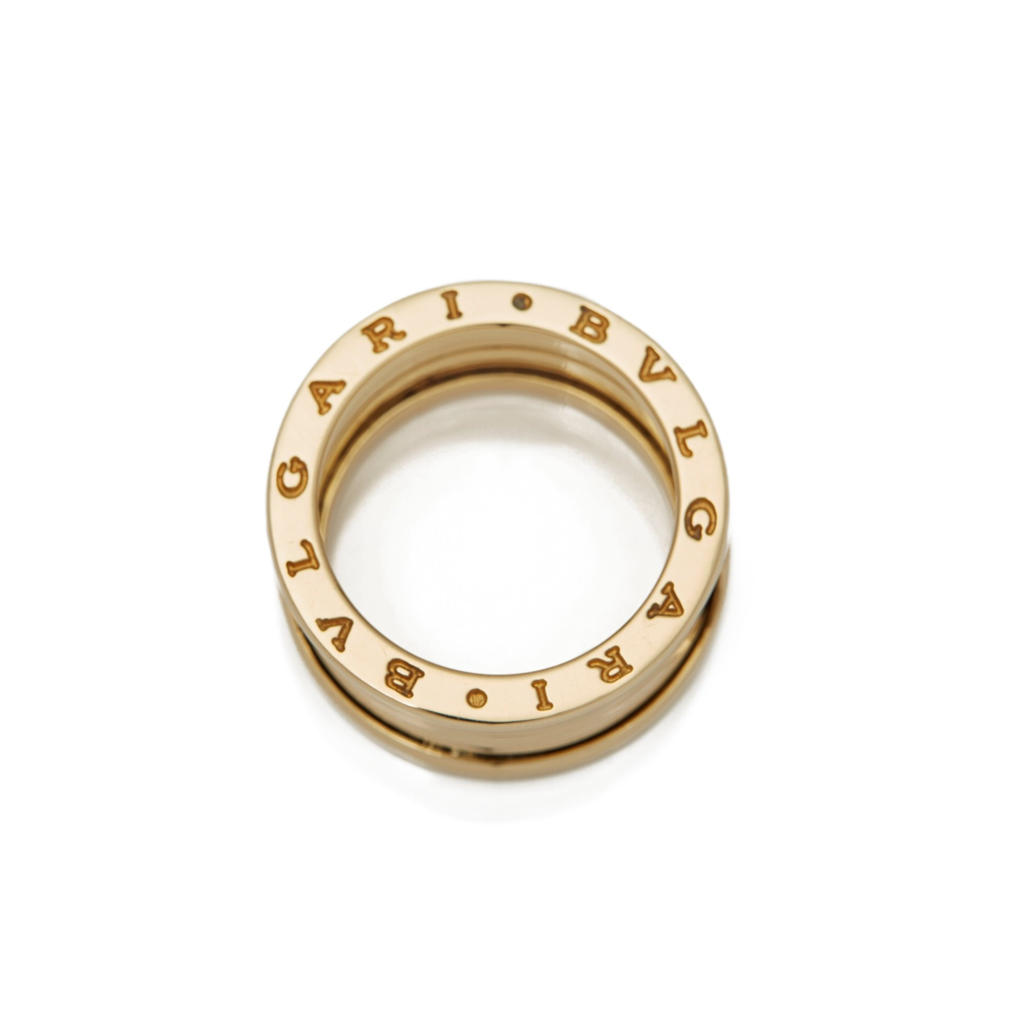 Bulgari 18k Yellow Gold 4 Band B.Zero 1 Ring