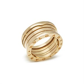 Bulgari 18k Yellow Gold 4 Band B.Zero 1 Ring