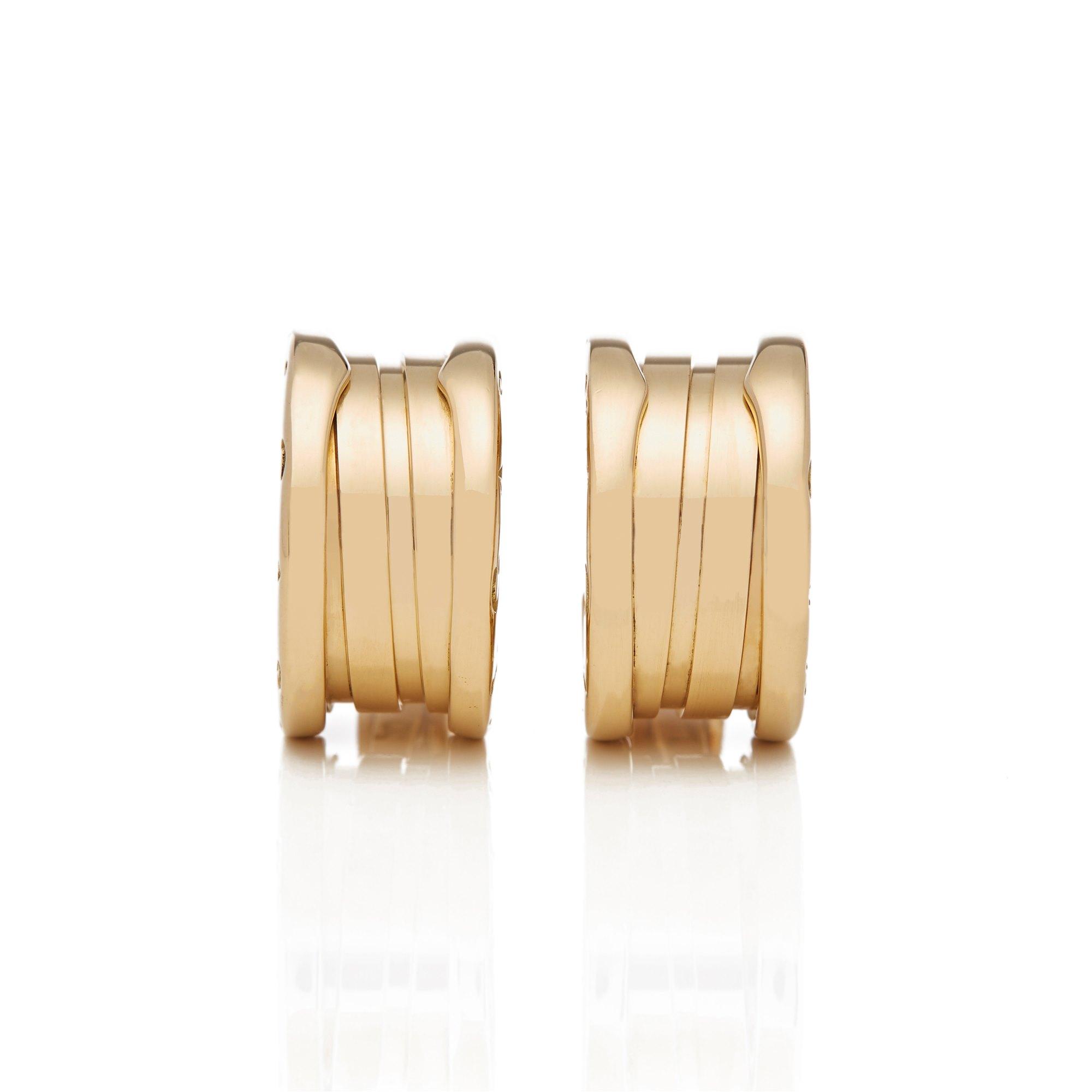 Bulgari 18k Yellow Gold B.Zero 1 Earrings