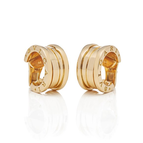 Bulgari 18k Yellow Gold B.Zero 1 Earrings