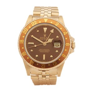 Rolex GMT-Master Root Beer Nipple Dial Yellow Gold - 16758