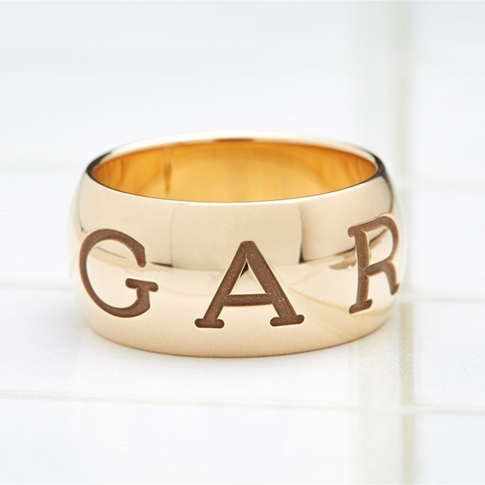 Bvlgari (Bulgari) 18K Yellow Gold Monologo Ring