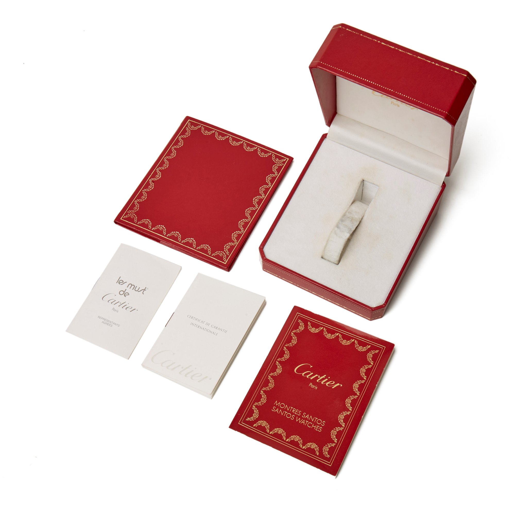 Cartier Santos Carree Diamond 18K Yellow Gold