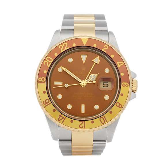 Rolex GMT-Master II Rootbeer Stainless Steel & Yellow Gold - 16713