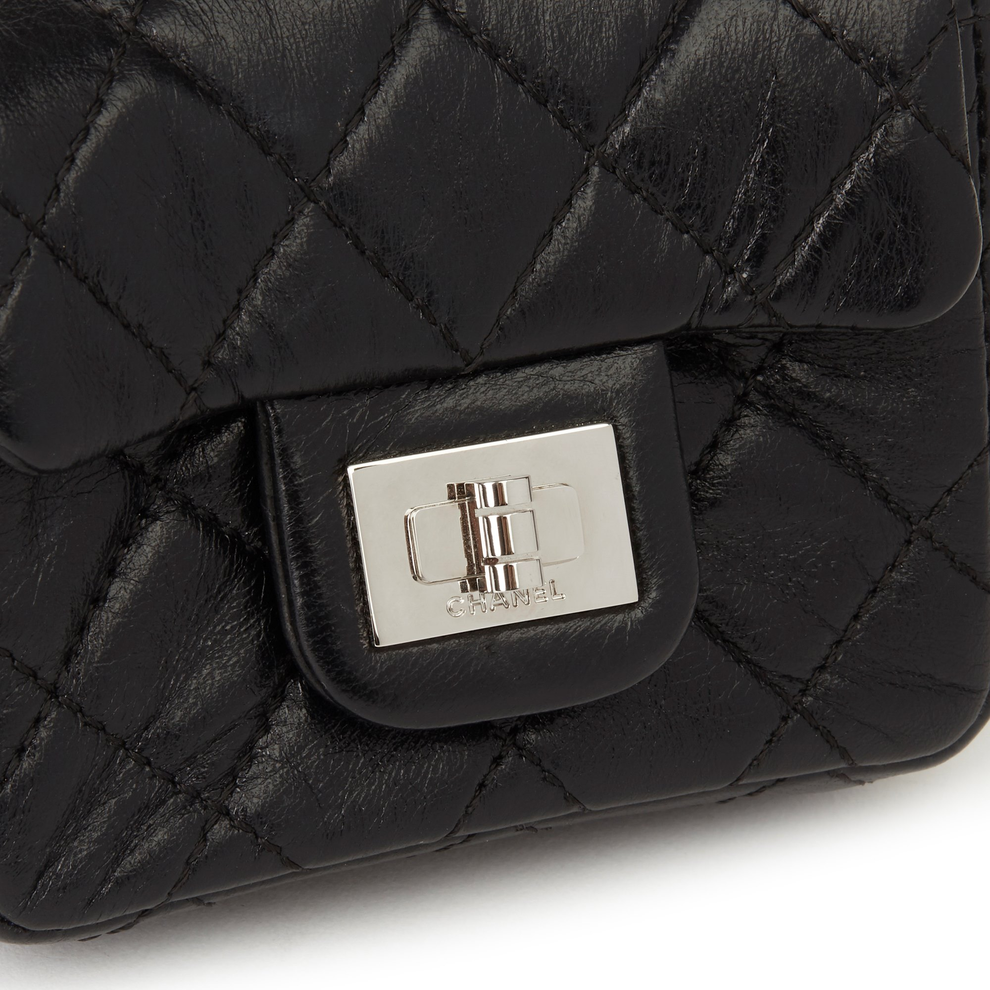 Chanel Black Quilted Lambskin 2.55 Reissue Micro Ankle Flap Bag